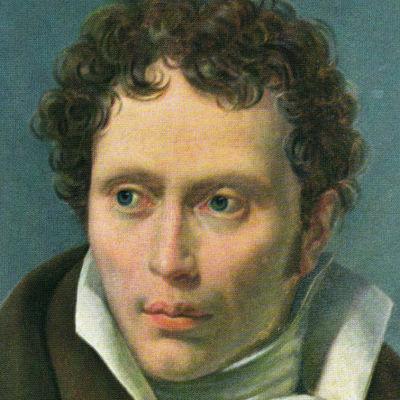 Målning på en ung Arthur Schopenhauer, filosof