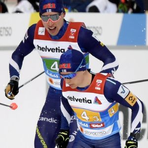 Iivo Niskanen och Matti Heikkinen.