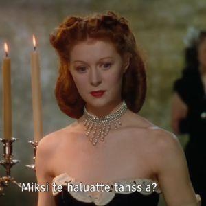 Punaiset kengät. Elokuva vuodelta 1948. Kuvassa Moira Shearer. Ruutukaappaus.