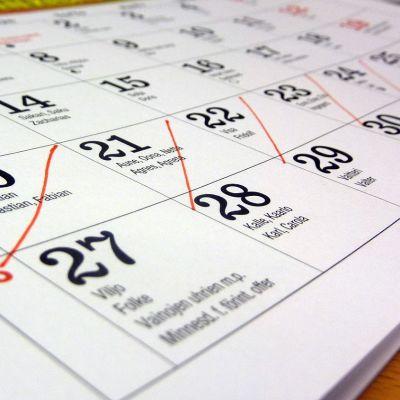 Merkintöjä kalenterissa