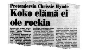 Ett tidningsurklipp från 1987 med nyheter om Ruisrock.