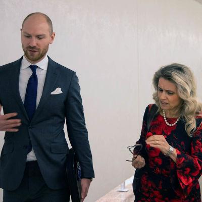 Riksdagsledamot Päivi Räsänen och juristen Paul Coleman