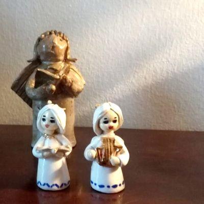 Joulukoristeita 80-luvulta.