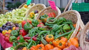 Grönsaker på Farmer´s Market