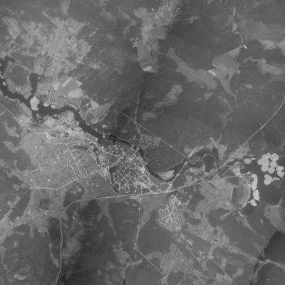 Kajaani ilmakuva 1939