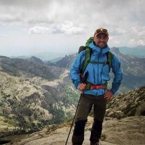 Peter Jofs under en vandring på Koriska.