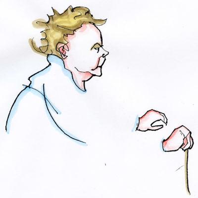 Lassi Rajamaan piirros säveltäjä Ida Mobergista.