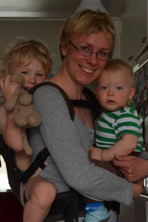 ann-sofie bäckström med barnen