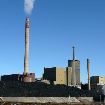 kolkraftverket på Vasklot i Vasa