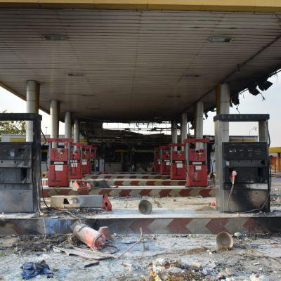 Palanut bensa-asema.