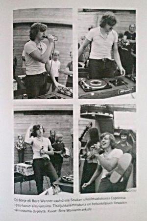 Dj Börje i farten i början av 1970-talet (ur Bore Wanners arkiv).