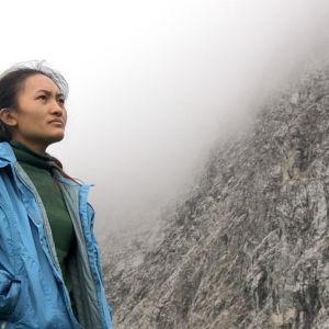 Ngima Doma Sherpa arbetar för andra gången i Tyrolen.