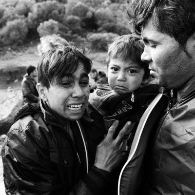 Flyktingar i december 2015. (Bilden är beskuren)