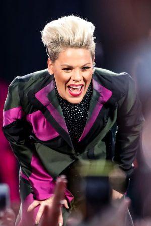 Yhdysvaltalainen pop-laulaja Pink esiintyi Berliinissä heinäkuussa.