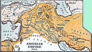 Muinainen Assyrian valtakunta noin 700 eaa.