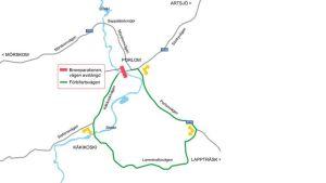 Karta över Porlom