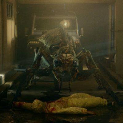 En jättelik myra bakom sitt senaste offer.
