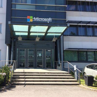 Microsoftin kyltti Tampereella