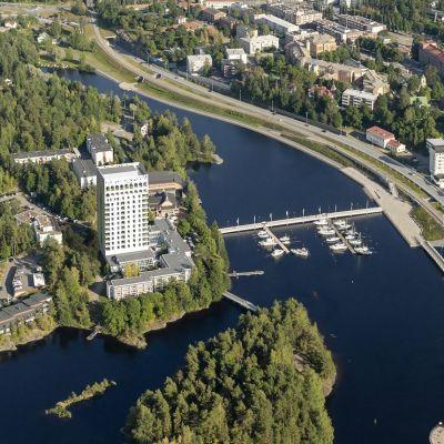 Savonlinnan Kasinosaarelle aiotaan rakentaa 16-kerroksinen tornihotelli.