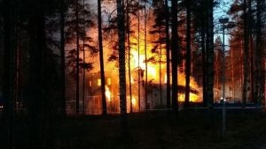 Branden i Niinisalo.
