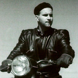 Moottoripyöräilijä 50-luvultaa