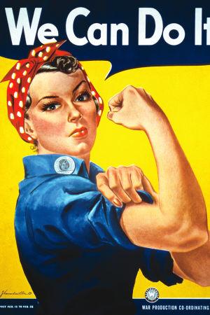 "J. Howard Millers affisch ""We Can Do It!"" från 1943."