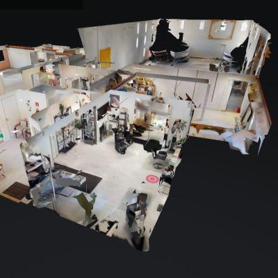 Skärmdump på en 3D-visning av en fastighet.