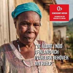 en gammal afrikansk kvinna