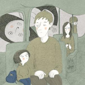 Illustration till Skuggorna av Maija Hurme
