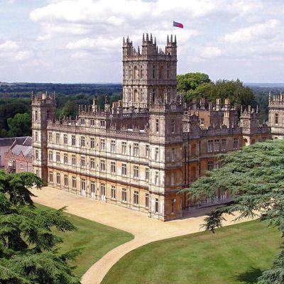 Highclere Castle i Newbury, Storbritannien där serien Downton Abbey spelades in.