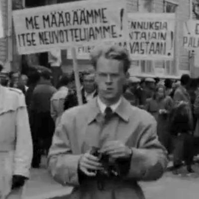Mielenosoitus Kemissä (1949).