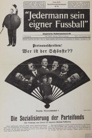 John Heartfields titelsida av den dadaistiska tidskriften Jedermann sein eigener Fussball