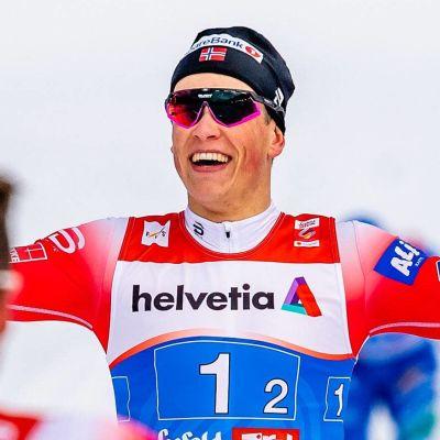 Johannes Hösflot Kläbo jublar i VM 2019.