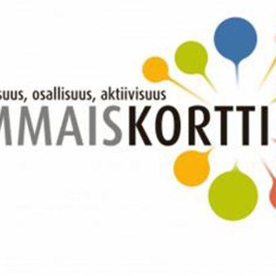 Kuvakaappaus Kehitysvammaisten palvelusäätiön verkkosivulta. Symboli ja teksti: Yhdenvertaisuus, osallisuus aktiivisuus - vammaiskortti.