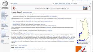 En sida över svenskfinland i wikipedia
