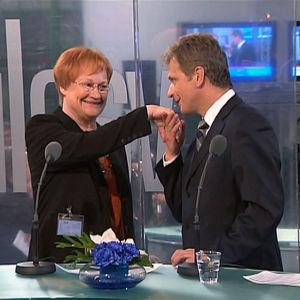 Tarja Halonen ja Sauli Niinistö, presidentinvaalit 2006
