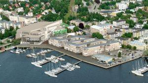 Bostäder och köpcentrum som planeras i Norra hamnen