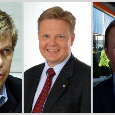 Heikki Hiltunen, Harri Nummela och Jukka Toivakka.