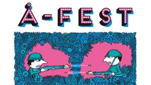 affisch för seriefestival