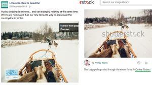 Ett exempel på en bild från kampanjen där en bild från Finland användes.