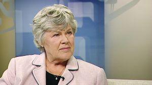 Elisabeth Rehn i Yles morgon-tv
