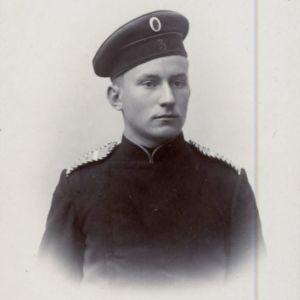 Gunnar Heikel som frivillig vid Wasa skarpskyttebataljon.