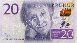 Den nya 20-kronorssedeln