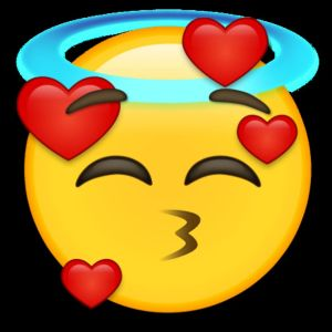En emoji som föreställer lycka och glädje.