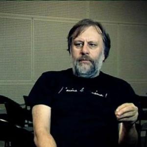 Slavoj Žižek haastattelussa.