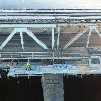 Rautatiesillan remontti Rovaniemellä marraskuu 2017