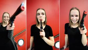 Emma-Sara Raunio är Annie Mästerskytten i årets Lurensmusikal