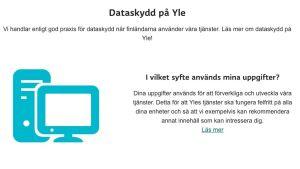 Dataskydd på Svenska Yle