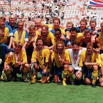 Sveriges bronslag från fotbolls-VM 1994.