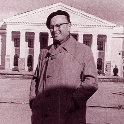 Unto Miettinen matkalla Neuvostoliitossa.